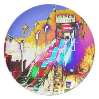 Super Slide Ride Art Photo Wall Decor Gift Plate