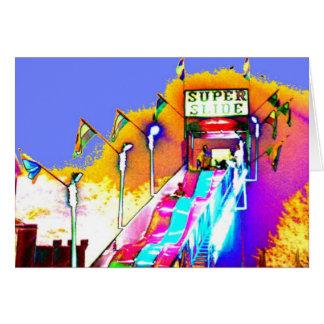 Super Slide Sunset Abstract Art Photo Blank Inside Card