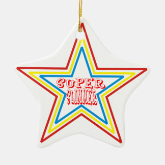 Super Slimmer Double-Sided Star Ceramic Christmas Ornament