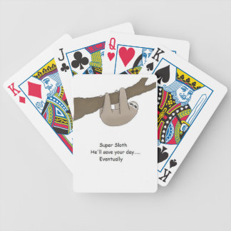 Super Sloth Hero Bicycle Playing Cards