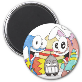 Super Slug and Chuck Easter 2 Inch Round Magnet
