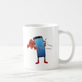 Super Smart Phone Cartoon Coffee Mug