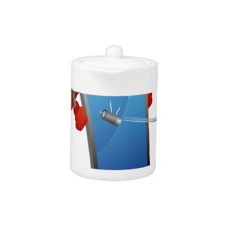 Super Smart Phone Cartoon Teapot
