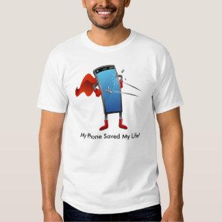 Super Smart Phone Cartoon Tee Shirt