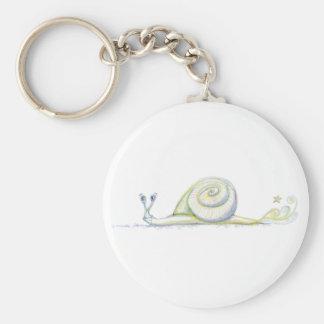 Super Snail Basic Round Button Keychain