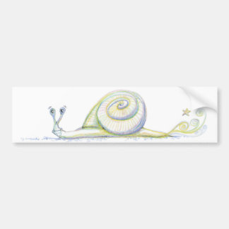 Super Snail Bumper Sticker