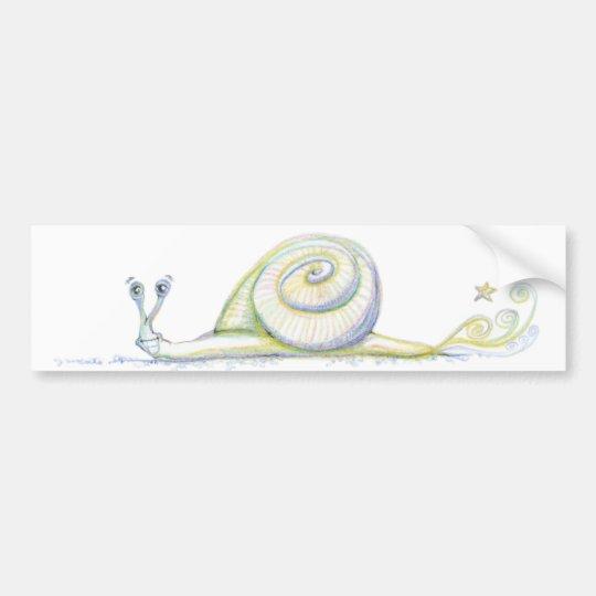 Super Snail Bumper Sticker