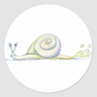 Super Snail Classic Round Sticker