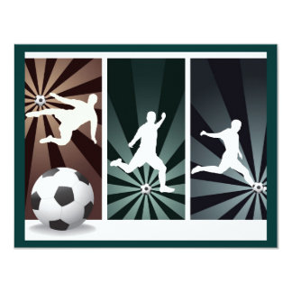 super-soccer 4.25x5.5 paper invitation card