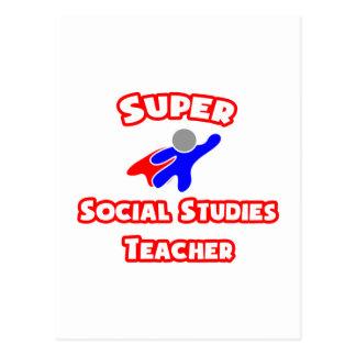 Super Social Studies Teacher Postcard