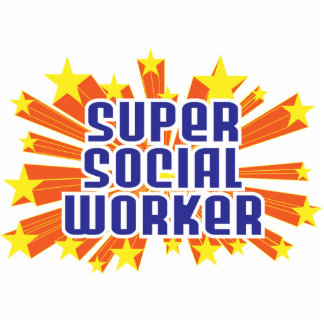 Super Social Worker Photo Cut Outs
