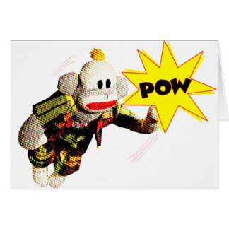 Super SockMonkey Hero Blank Card
