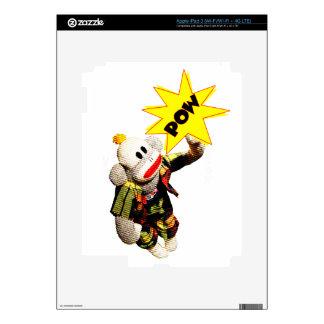 Super SockMonkey Hero iPad 3 Skins
