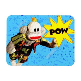 Super SockMonkey Hero Magnet