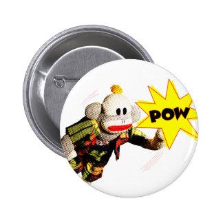 Super SockMonkey Hero Pinback Button