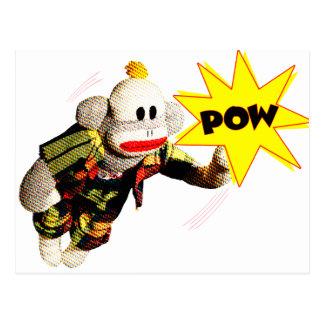 Super SockMonkey Hero Postcard