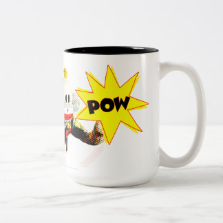 Super SockMonkey Hero Two-Tone Coffee Mug