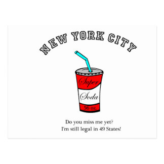 Super Soda 56 oz.  Do you miss me yet? Postcard