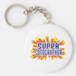 Super Sonographer Basic Round Button Keychain