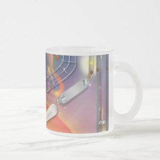 Super Space Pinball Machine 10 Oz Frosted Glass Coffee Mug