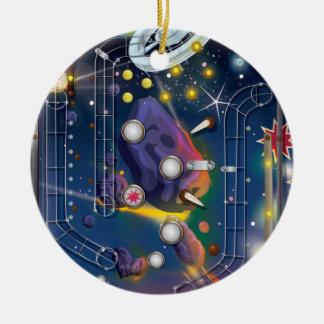 Super Space Pinball Machine Ceramic Ornament