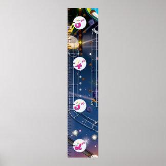 Super Space Pinball Machine Growth Chart. Poster
