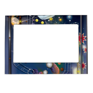 Super Space Pinball Machine Magnetic Picture Frame