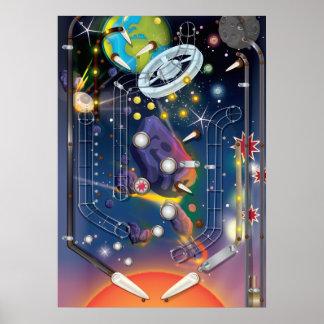 Super Space Pinball Machine Poster