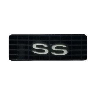 Super Sport Classic Car SS emblem Symbol Label