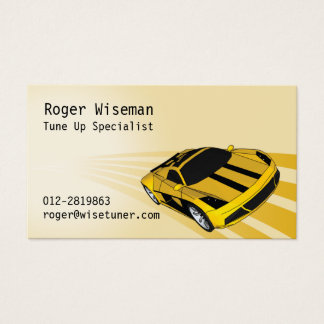 Super Sporty Yellow Business Card