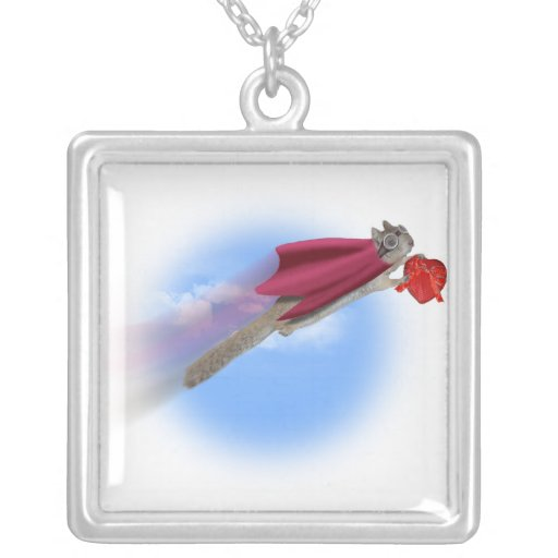 Super Squirrel Delivery With Valentine Candy Custom Necklace