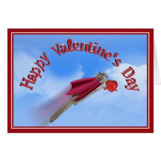 Super Squirrel Valentine Delivery Service Card