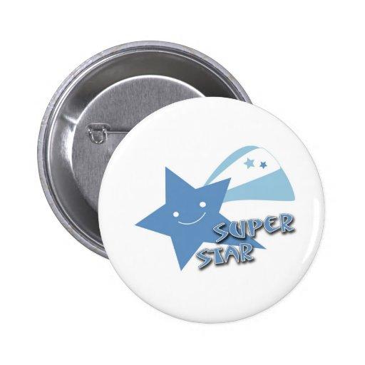 Super Star 2 Inch Round Button