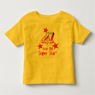 Super Star 4th Birthday Shirt for Boys