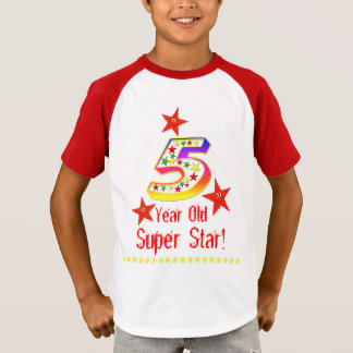 Super Star 5th Birthday Shirt for Boys