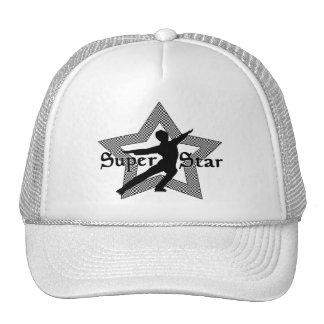 SUPER STAR BLACK & WHITE MENS HAT
