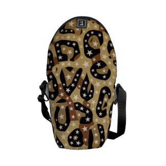 Super Star Cheetah Abstract Courier Bag