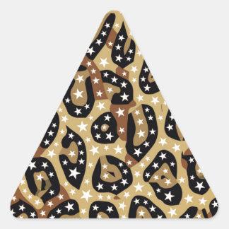 Super Star Cheetah Abstract Triangle Sticker