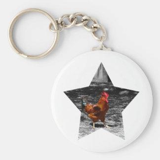 Super Star Chicken Keychain