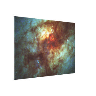 Super Star Clusters in Dust-Enshrouded Galaxy Canvas Print