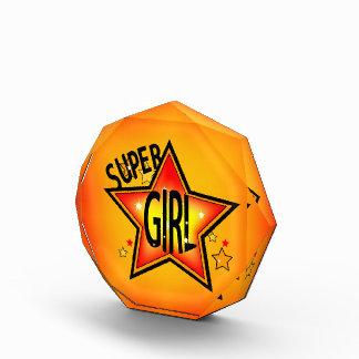 Super Star Girl Acrylic Award
