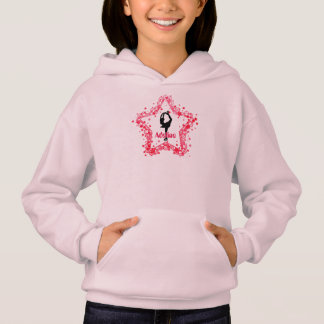 Super Star Girl Ice Figure Skating Personalized Hoodie