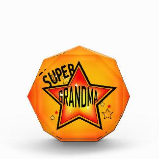 Super Star Grandma Grandmother Acrylic Award