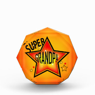 Super Star Grandpa Grandfather Acrylic Award