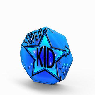 Super Star Kid Blue Acrylic Award