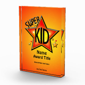 Super Star Kid Custom Acrylic Award