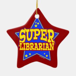 Super Star Librarian Christmas Ornaments