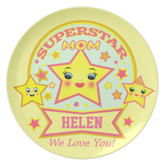 Super Star Mom Mother s Day Plate