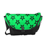 Super Star Neon Green and Black Messenger Bag