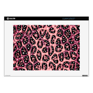 "Super Star Peach Cheetah Abstract 15"" Laptop Skins"